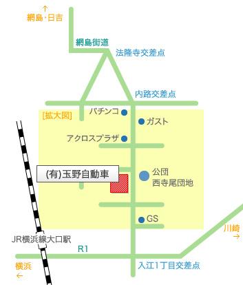 有限会社玉野自動車の地図